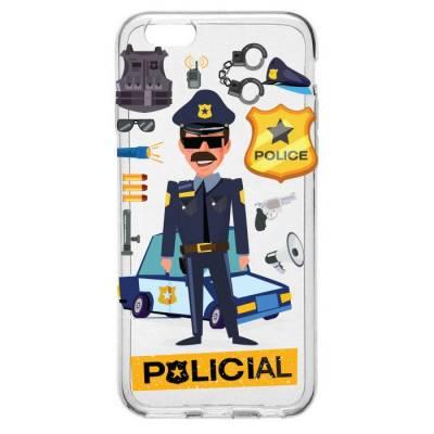 Capinha para Celular Homem Policial