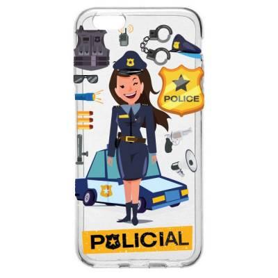 Capinha para Celular Mulher Policial