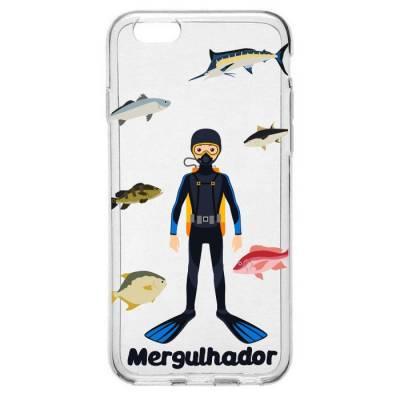 Capinha para Celular Profissão Homem Mergulhador
