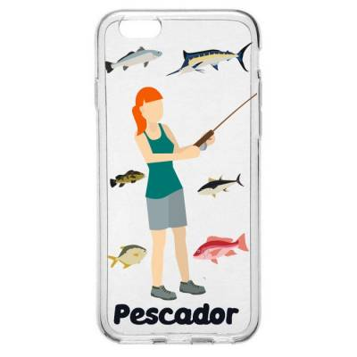 Capinha para Celular Profissão Mulher Pescadora