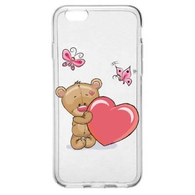Capinha para Celular Ursinho e Coração