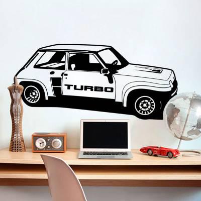 Adesivo de Parede Carro Turbo