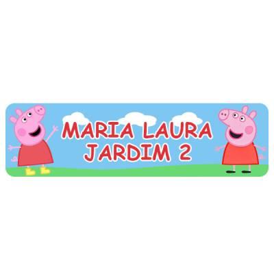 Etiquetas Adesivas Termo colantes para Roupas Infantil Peppa Pig