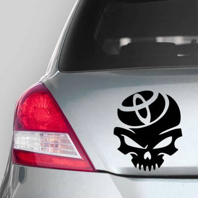 Adesivo de Carro Caveira Com Logo Toyota