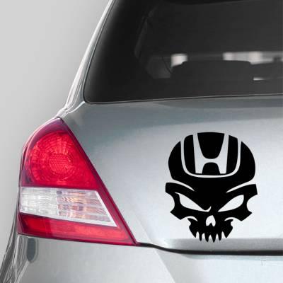 Adesivo de Carro Caveira com Logo Da Honda