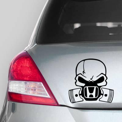 Adesivo de Carro Caveira com Mascara Da Honda