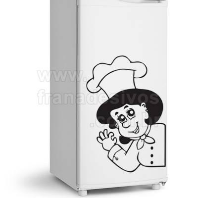Adesivo de Geladeira Chefe de cozinha 4