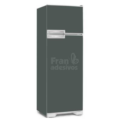 Adesivo para envelopamento de geladeira - Cinza Escuro
