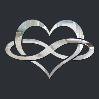 Espelho Decorativo Coração Infinito