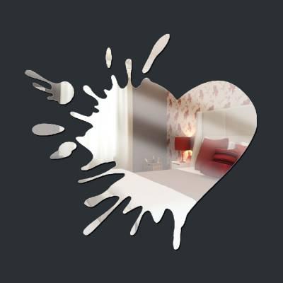 Espelho Decorativo Aquarela Coração