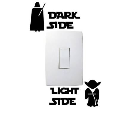 Adesivo de Parede para Interruptor Star Wars
