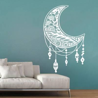 Adesivo de Parede Lua Maori Com Filtro dos Sonhos