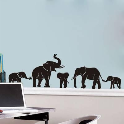 Adesivo de Parede Família De Elefantes