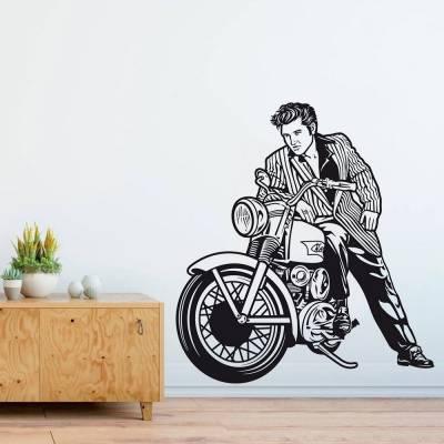 Adesivo de Parede Elvis Moto