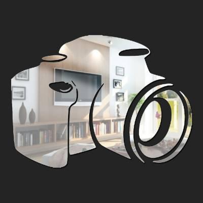 Espelho Decorativo Câmera Silhueta