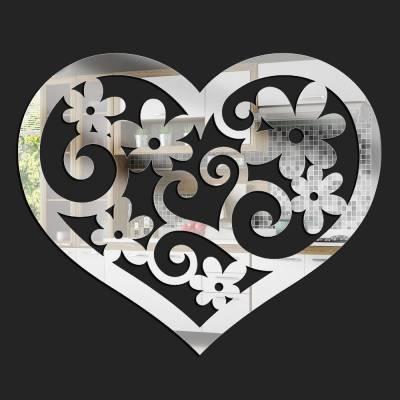 Espelho Decorativo Coração Florido