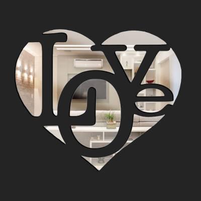 Espelho Decorativo Love Coração