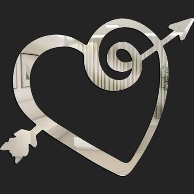 Espelho Decorativo Coração Flechado