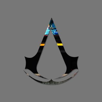 Espelho Decorativo Logo Assasin