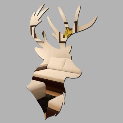 Espelho Decorativo Cabeça De Cervo