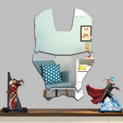Espelho Decorativo Capacete Homem De Ferro