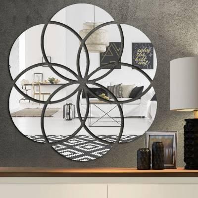 Espelho Decorativo Círculos Abstratos