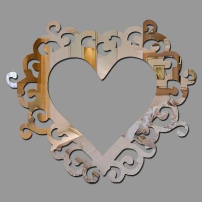 Espelho Decorativo Coração Com Ornamentos