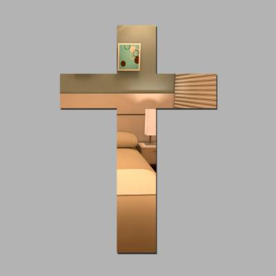 Espelho Decorativo Cruz