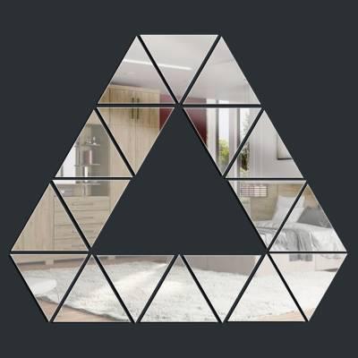 Espelho Decorativo Triângulo Com Triângulos