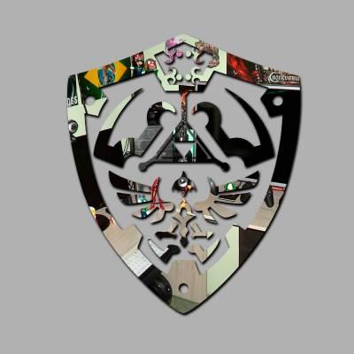 Espelho Decorativo Escudo Tri-force Link