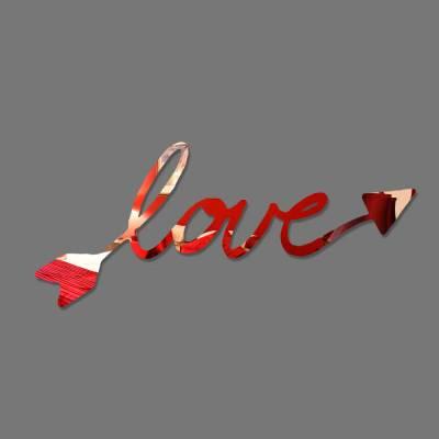 Espelho Decorativo Flecha Com A Palava Love
