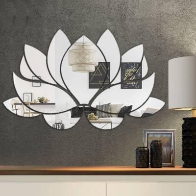 Espelho Decorativo Flor De Lotus