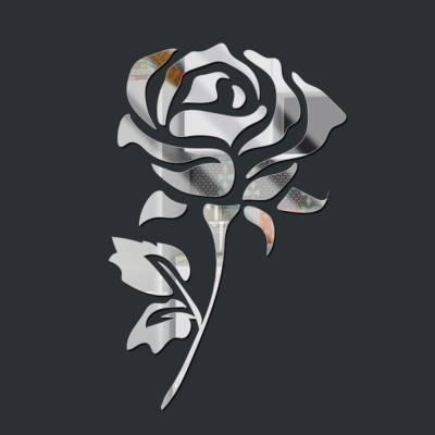 Espelho Decorativo Rosa Flor