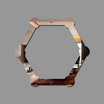 Espelho Decorativo Hexagono