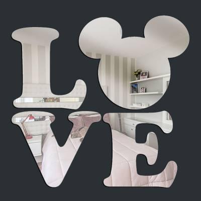 Espelho Decorativo Love Mickey