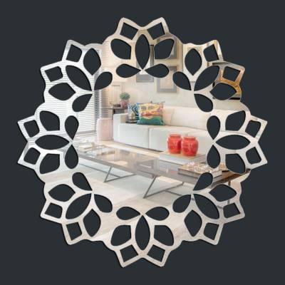 Espelho Decorativo Mandala De Flores