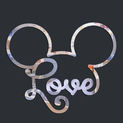 Espelho Decorativo Mickey Love