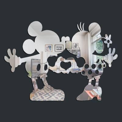 Espelho Decorativo Beijo Mickey E Miniie