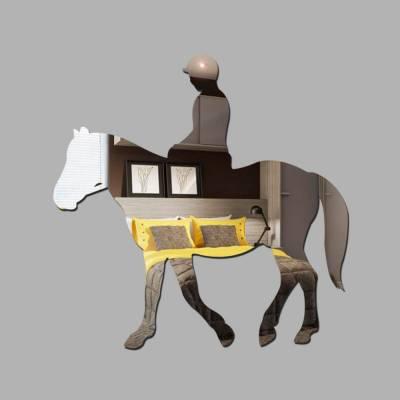 Espelho Decorativo Mulher Em Cima Do Cavalo
