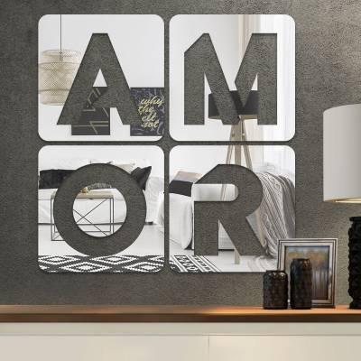Espelho Decorativo Palavra Amor