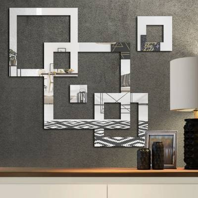 Espelho Decorativo Quadrados Abstratos Mod 02