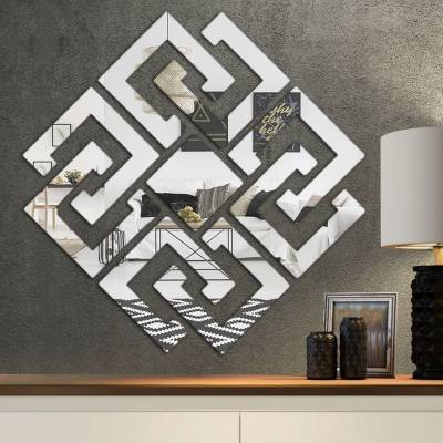 Espelho Decorativo Quadrados Abstratos Mod 03