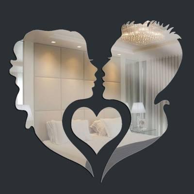 Espelho Decorativo Beijo Casal