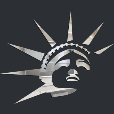 Espelho Decorativo Estatua Da Liberdade 02