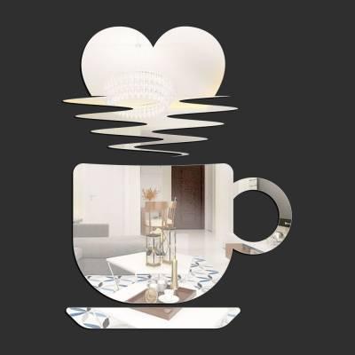 Espelho Decorativo Xícara Pôr Do Coração