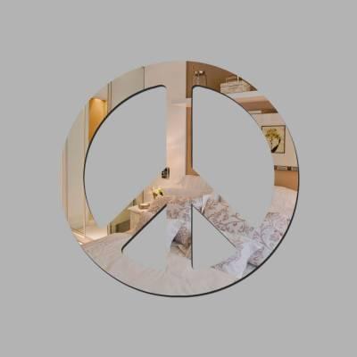 Espelho Decorativo Simbolo Da Paz