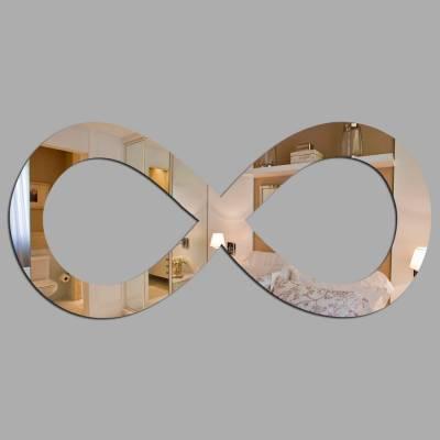 Espelho Decorativo Simbolo Do Infinito