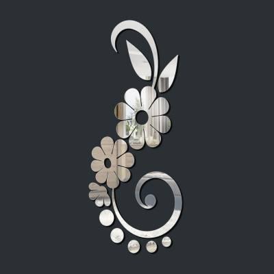 Espelho Decorativo Arranjo De Flores Vertical