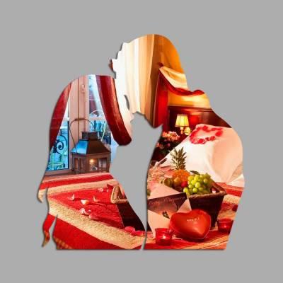 Espelho Decorativo Casal Apaixonado