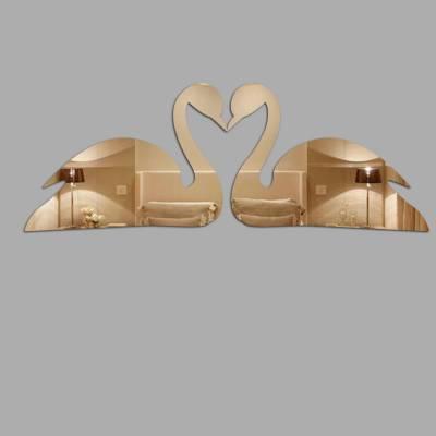 Espelho Decorativo Cisnes Formando Um Coração